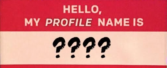 profile name online dating